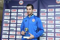 Կփորձեմ հաջորդ տարիների ընթացքում նույնպես լինել առաջինը. Հենրիխ Մխիթարյանը ստացավ «Տարվա լավագույն ֆուտբոլիստ» մրցանակը