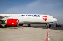 Czech Airlines начинает выполнять прямые рейсы Прага-Ереван-Прага