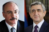 Արցախի երկրորդ նախագահը շնորհավորել է Սերժ Սարգսյանին՝ ՀՀ վարչապետի պաշտոնում ընտրվելու կապակցությամբ