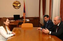 Министр культуры Армении Лилит Макунц отправилась в Нагорный Карабах