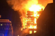 В Школе искусств Глазго произошел крупный пожар