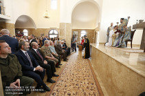 Премьер Армении присутствовал на открытии церкви в селе Чартар Мартунинского района НКР