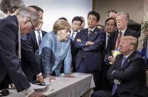 Трамп бросил конфеты в сторону Меркель на саммите G7