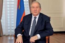 Президент Армен Саркисян направил телеграмму соболезнования президенту Грузии