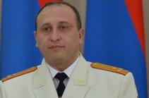 Ваагн Арутюнян освобожден от должности заместителя председателя Следственного комитета