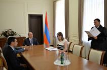 В резиденции президента Армении состоялась церемония присяги новоназначенных судей