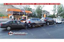Շղթայական ավտովթար՝ Մյասնիկյան պողոտայում. իրար են բախվել 4 մեքենա