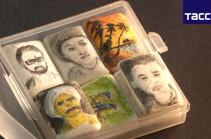 Երբ նկարել ես ուզում, սակայն թուղթ չունես. եգիպտացին արվեստի գործեր է ստեղծում արևածաղկի սերմերի վրա (Տեսանյութ)