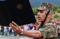 Сын Никола Пашиняна принес военную присягу