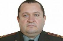Генерал-майор Норайр Йолчян освобожден от должности начальника управления тыла ВС Армении