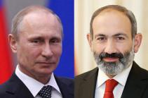 Հայկական կողմի նախաձեռնությամբ հեռախոսազրույց է տեղի ունեցել Նիկոլ Փաշինյանի և Վլադիմիր Պուտինի միջև