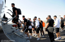 Armenia's football team departs for Republic of Macedonia