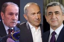 Три президента Армении отклонили приглашение: они не будут участвовать в праздничных мероприятиях по случаю Дня Независимости
