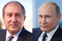 Russian president congratulates Armenian counterpart on Independence Day