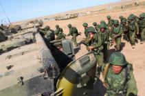 В Армении начались двусторонние батальонные тактические учения  российской военной базы ЮВО