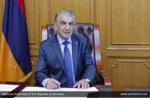 Спикер парламента Армении поздравил политсилы, победившие на выборах мэра Еревана