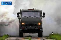 В Армении химики-разведчики ЮВО замаскировали военный аэродром