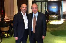 Армен Саркисян встретился в Париже с президентом компании «Оранж» Стефаном Ришаром