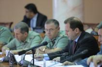 В министерство обороны Армении состоялось заседание коллегии