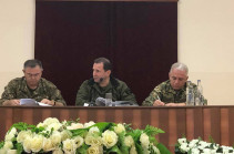 Armenia's DM, Chief of General Staff of Armed Forces meet with Karabakh's command staff