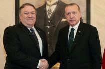 Эрдоган провел переговоры с Помпео в Анкаре