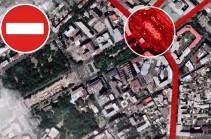 В связи с праздничными мероприятиями к 2800-летию Еревана ряд улиц будут закрыты