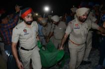 India train mows down crowd killing scores