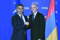 AFF chairman Artur Vanetsyan invites FIFA president to Armenia