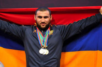 Weightlifting world champion Simon Martirosyan dedicates his victory to Armenia and all Armenians