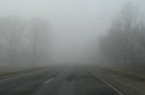 Visibility on Dilijan turns poor due to thick fog: ministry