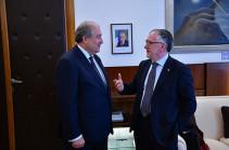 Իտալիայի Ազգային հետազոտությունների խորհրդի նախագահը հետաքրքրված է նախագահ Սարգսյանի՝ համաշխարհային ռիսկերի քվանտային վարքագծի տեսությամբ