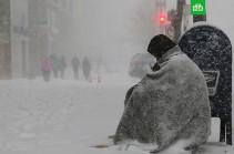 В США из-за снегопадов погибли по меньшей мере восемь человек
