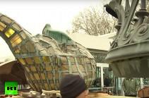 Ազատության արձանի ջահը տեղափոխվում է նոր թանգարան (Տեսանյութ)