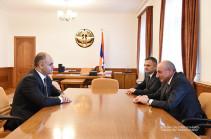Бако Саакян принял исполняющего обязанности министра сельского хозяйства Республики Армения
