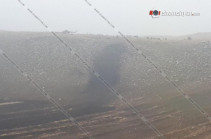 Photos from the site of military SU-25 crash published