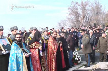 Funeral ceremony of two pilots killed in SU-25 military jet crash takes place in Yerablur Military Pantheon