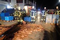В Германии около тонны шоколада вылилось на улицу из-за аварии на фабрике