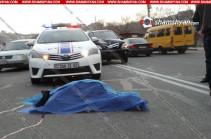 Woman dies in car accident in downtown Yerevan