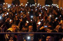 Протесты в Будапеште закончились столкновениями с полицией