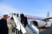 Նախագահ Արմեն Սարգսյանը ժամանել է Վրաստան՝ մասնակցելու նորընտիր նախագահ Սալոմե Զուրաբիշվիլիի երդմնակալության արարողությանը