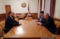 Artsakh President receives Armenia's acting education and science minister