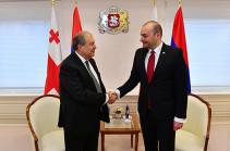 Президент Армении и премьер Грузии обменялись мыслями вокруг нынешней повестки армяно-грузинских отношений