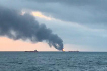 Russian rescue amid deadly blaze on two cargo ships off Crimea