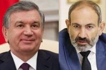 Ուզբեկստանի նախագահը շնորհավորական ուղերձ է հղել Փաշինանին վարչապետ նշանակվելու կապակցությամբ