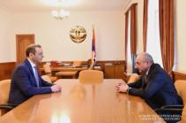 Artsakh president receives Armenia's NSC secretary