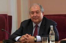 Նախագահ Արմեն Սարգսյանը շնորհավորական ուղերձ է հղել Մոլդովայի նախագահ Իգոր Դոդոնին