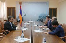 Տիգրան  Խաչատրյանը և Ռաֆիկ Մանսուրը քննարկել են հայ-ամերիկյան տնտեսական համագործակցությանն առնչվող հարցեր