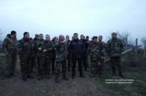 Artsakh president, Armenian NSS director visit Artsakh-Azerbaijani borderline
