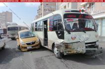 Երևանում բախվել են Suzuki-ի ավտոմեքենան և 48 երթուղին սպասարկող մարդատար ավտոբուսը. կան վիրավորներ