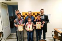 Երևանում անցկացվել են ռուսական շաշկու պատանիների մրցույթի եզրափակիչ երեք փուլերը